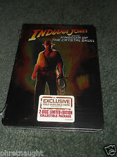 INDIANA JONES AND THE KINGDOM OF THE CRYSTAL SKULL 2 DISC STEELBOOK DVD - NEW