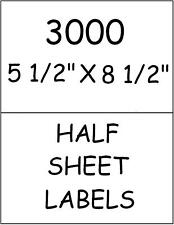 3000 QUALITY HALF SHEET LABELS FOR PAYPAL SHIPPING