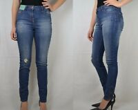 NEXT TAGGED NEW DARK BLUE HIGH RISE SKINNY ANKLE JEANS REGULAR AND LONG