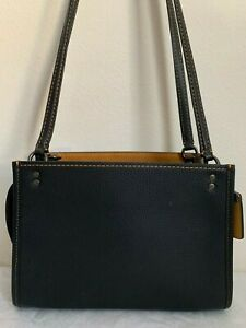 NWT COACH 1941 Rogue Shoulder Bag in Glovetanned Pebble Leather F28484 $595 Blac