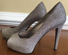 Women's Guess Silver Glitter Stiletto Shoes Size 6.5 M