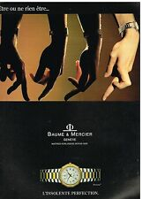 Publicité Advertising 1989 La Montre Riviera Baume & Mercier