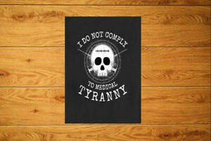 Do Not Comply Medic@l Tiranny Sticker Packs (10-100) Anti Vax Vaccine Conspiracy