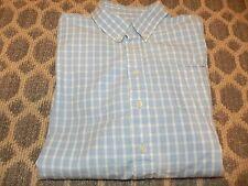 EUC Talbots Kids Boys 18 Blue White Button Down Dress Shirt 100% Cotton PERFECT