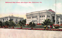 Hollywood High School & Science Hall, Hollywood, CA., Early Postcard, Unused