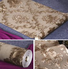 Embossed Wallpaper Gold metallic Wall coverings Textured victorian Damask