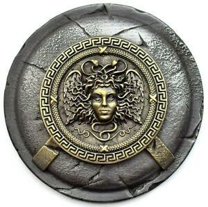 Medusa greek mythology wall decor, Gorgon on spartan shield wall art