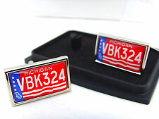 CANNONBALL RUN MEDI-VAC NUMBER PLATE BADGE MENS CUFFLINKS GIFT