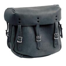 Samwel Army Style Saddlebag, Leather, Black, for Harley Davidson 41-52 Wl