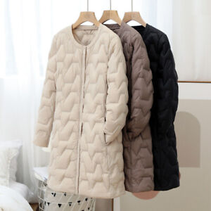 Winter Woman 90% Duck Down Ultra-Light Quilted Puffer Jacket Diamond Check Coat
