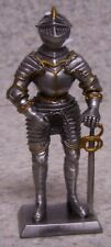 "Figurine Medieval Knight Armor Italian with Sword NEW pewter 4"" with gift box"