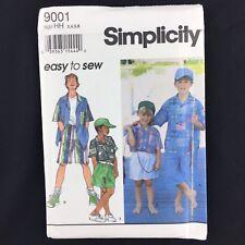 Simplicity 9001 Boys' Shorts Camp Shirt Cap Sewing Pattern Uncut Size 3 4 5 6