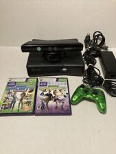 New listing Microsoft Xbox 360 S Console Black With Kinect Sensor Controller And 2 Games