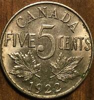 1922 CANADA 5 CENTS - Uncirculated