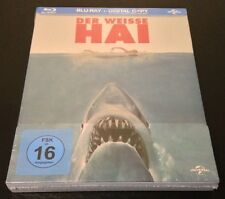 JAWS Blu-Ray SteelBook German Exclusive Region Free 2-Disc Set New OOP & Rare!