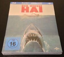 JAWS Germany Exclusive Blu-Ray SteelBook. Region Free, 2-Disc Set. New & Rare.