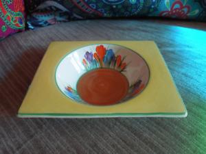 Clarice Cliff Crocus Biarritz Rectangular Bowl