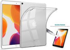 TPU Bumper Transparent Back Cover for iPad 10.2  2019 + Glass Screen Protector