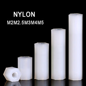 Nylon M2M2.5M3M4M5 Female Thread Hexagonal Pillar Standoff Spacer Support PCB