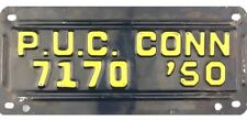 1950 Connecticut PUBLIC UTILITIES COMMISSION PUC License Plate #7170