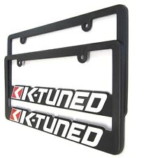 K-TUNED License Plate Frames universal Set of 2