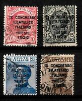 1922-Trieste-Congresso Filatelico -sass S 22 -  usato -3