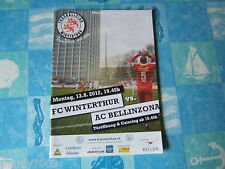 PROGRAMME UFFICIALE=SVIZZERA =FC WINTERTHUR - AC BELLINZONA=13..8.2012