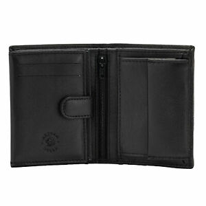 Nuvola Pelle Small Wallet for Men with Coin Pocket in Real Leather with Inner Zi