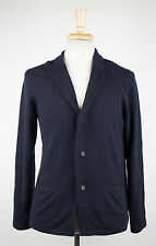 New. LANVIN Navy Blue Cashmere Cardigan Sweater Size Small $1295