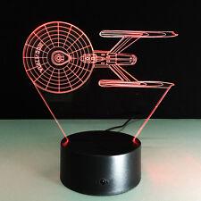 3D Nuit Lumière Lampe Star Trek NCC-1701-A USS Entreprise Combattant Cadeau Gift