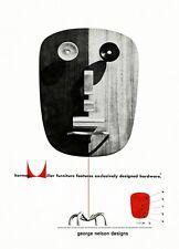 Milieu du siècle 1950 George Nelson Herman Miller publicité A3 Poster Art Print