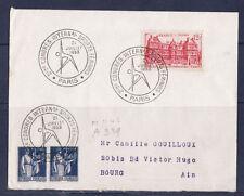 ec53/ Enveloppe  2eme congrès sports féminins  Paris     1953