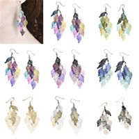 1Pair Leaves Earring Bohemian Jewelry Dangle Drop Earrings Boho Retro Women Gift