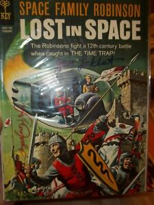 LOST IN SPACE 20 VG-FN SIGNED JUNE LOCKHART ANGELA CARTWRIGHT PAINTED COVER 1967