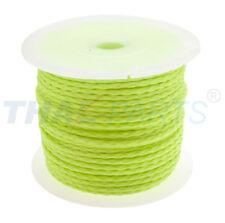 50m PP Universalschnur 3,0mm  / 12 x geflochten gelb fluoreszierend Schnur
