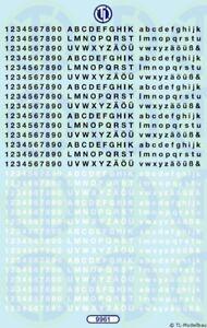 9961 - Decals Zahlen und Buchstaben 2,5 mm