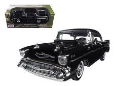 Motor Max 1/18 1957 Chevy Bel Air Black Diecast Car Model 73180