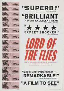 LORD OF THE FLIES POSTER FILM A4 A3 A2 A1 LARGE FORMAT CINEMA MOVIE