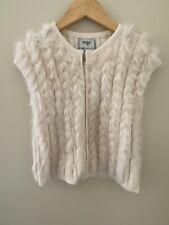 Mayoral Beige Fur Vest girls size 7