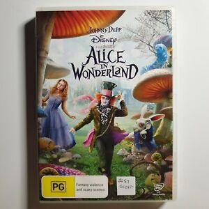Alice in Wonderland   DVD   Johnny Depp, Mia Wasikowska, Anne Hathaway  Fantasy