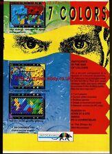 "7 Colors ""Infograms"" 1991 Magazine Advert #5645"