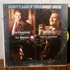 Buddy Greco Buddy's Back in Town! LP Epic Mono vocal jazz VG+