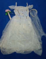 Kinder Kostüm Braut Engel Brautkleid  Eisprinzessin Prinzessin Fasching 110/116
