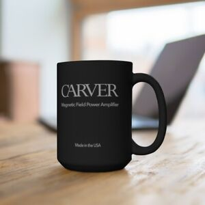 Carver Amplifier 15 oz. Vintage Collectible Coffee Mug Accurate Reproduction