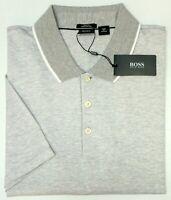 NEW $135 Hugo Boss Gray Shirt Short Sleeve Mens Pitton 50309841072 Slim Fit NWT