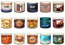 BATH & BODY WORKS 3 WICK SCENTED CANDLES ~ CHOOSE YOUR SCENT~ White Barn