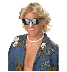 70s Feathered Hair Blonde Disco Men Costume Wig