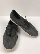Vans Off the Wall  Mens Casual Lace Up Shoes Sneakers  Grey Size us 11.5 NEW
