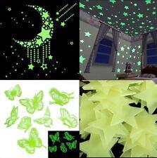 Glow In The Dark Butterfly Star Vinyl Stickers/Bedroom/Night/Children's Wall Art