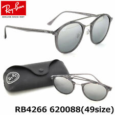 AUTHENTIC RAY-BAN LIGHT RAY RB4266 620088 GREY/SILVER MIRROR 49mm SUNGLASSES